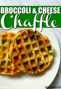 These Broccoli and Cheese Chaffle are a simple easy keto chaffle recipe. This is the best Broccoli and Cheese Chaffle recipe! This savory chaffle recipe has a crispy outside while being nice and fluffy inside. Keto Foods, Keto Snacks, Mini Waffle Recipe, Waffle Maker Recipes, Low Carb Keto, Low Carb Recipes, Healthy Recipes, Freezer Recipes, Freezer Cooking