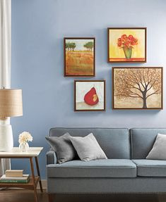 Image 2 of Madison Park Autumn Orchard Gallery 4-Pc. Framed Canvas Print Set