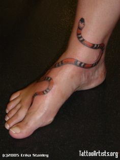 Snake Tattoo By: Erika Stanley (garter, head down)