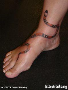 Snake Tattoo By: Erika Stanley (garter, head down)
