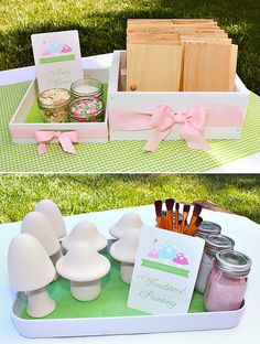 Ideas for activities at a fairy themed party.