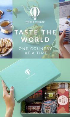 Try food from all over the globe right from the comfort of your own home! Try The World works with small, family-owned companies who follow artisanal methods of production. The result is a box of items that are hard to find in the US, but loved by locals. Check out trytheworld.com and taste for yourself! FREE SHIPPING and tax included!