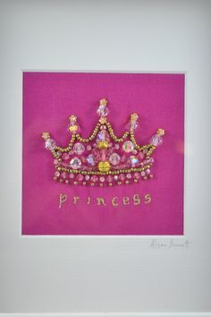 Princess Crown in Pink.The Opulent Thread
