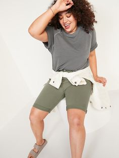 High-Waisted Pop-Color Bermuda Jean Shorts for Women -- 9-inch inseam | Old Navy Bermuda Shorts Women, Shop Old Navy, Double Breasted Coat, Old Navy Women, High Waist Jeans, Jean Shorts, Color Pop, Slim, Confidence