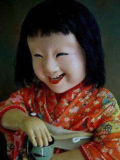 "RAREST Japanese Doll 32"" Edo Bakumatsu IKI Ningyo Ichimatsu Merchant Doll   eBay"