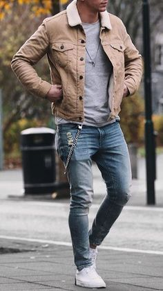 popular outfits ideas for men who look cool - o beliebte Outfits Ideen für Männer, die cool aussehen – Outfit.tophaarmodel… popular outfits ideas for men who look cool – outfit. Best Street Style, Cool Street Fashion, Men Street Styles, Stylish Mens Outfits, Casual Winter Outfits, Casual Outfit For Men, Stylish Clothes For Men, Casual Fall, Best Winter Outfits Men