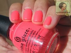 #ChinaGlaze City Flourish Collection in Thistle Do NIcely #neon #nails