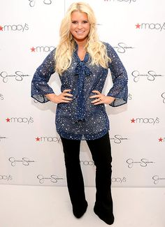 Jessica Simpson visits Macy's South Coast Plaza in support of the Jessica Simpson and Jessica Simpson Girls Collections on November 10, 2012 in Costa Mesa, California.