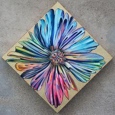 """Saatchi+Art+Artist+cocis+cosmin;+Collage,+""""Rainbow+Flower""""+#art"""