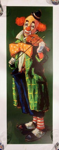Barry Leighton Jones Lithograph Very Rare Clown's Lament Art Print 1970 146/375