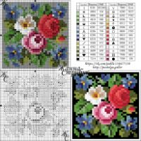 "Gallery.ru / pustelga - Альбом ""small маленькие схемы"" Cross Stitch Flowers, Cross Stitch Patterns, Stitch Cartoon, Google, Monogram Cross Stitch, Dots, Patterns, Flowers, Embroidery"