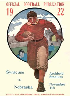 Syracuse/ Nebraska football | 1922 poster