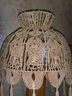 Макраме: торшер (узел,шнур,плетение) ФОТО #4
