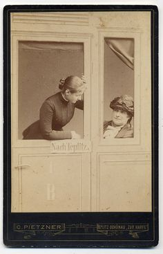 Carl Pietzner, Teplice - Christina And Wilhelmina Auersperg In Train To Teplitz by josefnovak33, via Flickr