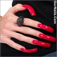 Real Long Nails, Long Red Nails, Long Fingernails, Perfect Nails, Gorgeous Nails, Pretty Nails, Amazing Nails, Swag Nails, Fun Nails