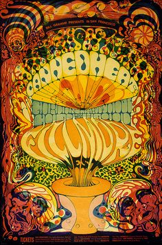 Vintage poster for Canned Heat @ the Filmore