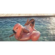 Flamingo Luxe Float Rosegold 155cm Rose Gold, Outdoor Decor, Summer Recipes
