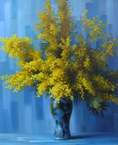 Elisabeth Rouviere — Yellow Flowers  (1250×1543) Acrylic Painting Flowers, Modern Oil Painting, Yellow Painting, Acrylic Painting Canvas, Garden Painting, Painting Lessons, Amazing Flowers, Yellow Flowers, Painting Inspiration