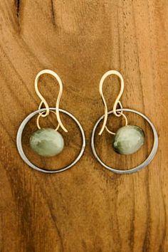 Inner Drop Cats Eye Earrings by Melissa Joy Manning  toyastales.blogspot.com