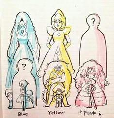 steven universe pearl blue and pearl yellow - Buscar con Google