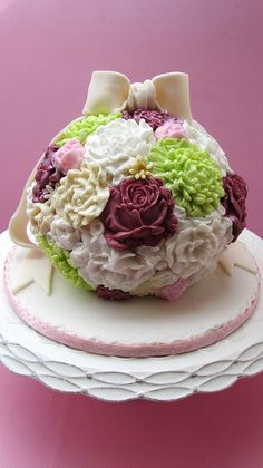 Birthday Cake..Inspired by Lindy Smith cake.. by Anita Jamal, via Flickr