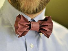 Paper Bow Tie - If you've got a last minute event to attend, this paper bow tie DIY may come in handy. Made of nothing but paper and glue, this origami bow t...