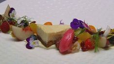 "MasterChef Australia (Season 4). Chef George Calombaris' ""Lemon and Ricotta Cheesecake with Fruit Salad""."