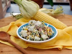 Grilled Corn and Poblano Potato Salad recipe from Marcela Valladolid via Food Network
