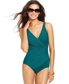 57bf47cc17336 Miraclesuit Oceanus One-Piece Swimsuit - Swimwear - Women - Macy's  Flattering Swimsuits, Cute
