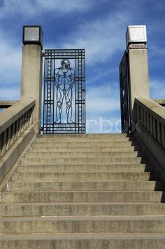 entrance an iron gate to Vigeland park in Oslo, Norway