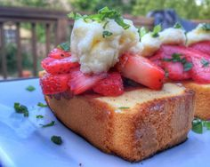 Delicious summer dessert recipe -- Grilled Strawberry-Basil Shortcakes PLUS a Cannon PowerShot DSLR giveaway for the #BestBerryShortcake!  Great recipe for BBQs, potlucks, grilling, summer
