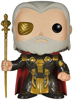 The Thor The Dark World Odin Marvel Pop! Vinyl Bobble Head features Thor and Loki's father from theThor: The Dark Worldfilm as a 3 3/4-inch tall bobble head. Rendered in the adorable stylized Pop!...