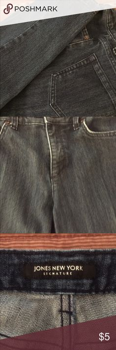 Jeans by Jones New York, 6, Like NEW! Jeans by Jones New York, 6, Like NEW! Color: Med/Dark Blue. Worn couple times ~ PERFECT! Jones New York Jeans