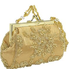 'Gilded Charmer' Gold Wedding or Prom Minaudiere Evening Bag