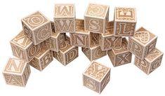 Natural Wooden ABC Blocks Alphabet - Blueberry Forest Toys