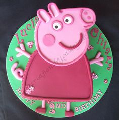 Resultado de imagen para cakes for kids 2 years 2 Birthday Cake, Birthday Ideas, Cake Templates, Butterfly Cakes, Cookie Pops, Pig Party, Novelty Cakes, Cupcake Cakes, Pig Cakes