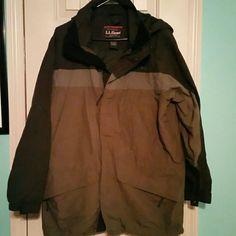L.L. Bean Jacket Rain Jacket Material (215)
