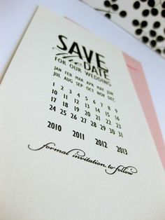 Simple save the date idea...