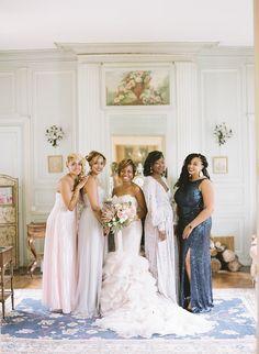 perfectly mismatched bridesmaids | Photography: bonphotage