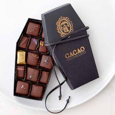 Chocolate Coffin Box Halloween Candy Idea