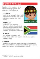 MakingFriends Facts about South Africa Printable Thinking Day fact card for our passports. Perfect if you chose South Africa for your Girl Scout Thinking Day or International Night celebration.