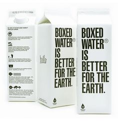 Boxed Water : Lovely Package . Curating the very best packaging design. This is such a great idea!