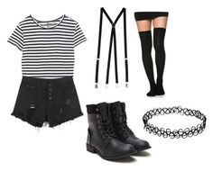 """""""modern tweedle dee/tweedle dum costume"""" by havenwest on Polyvore featuring Enza Costa, American Apparel and modern"""