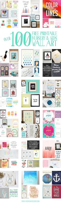 A gigantic guide to the best nursery and kids wall art printables. Pin for later to check them all out! A gigantic guide to the best nursery and kids wall art printables. Pin for later to check them all out!