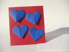 Carte coeur origami