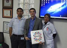 Capacitando a personal tecnico de PRINTOP en Ventanilla, Lima Peru