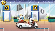 Learn About Airport - Airplanes for Children Babies with Dr. Panda's Air...