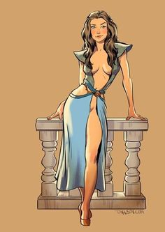 Game of Thrones Pinups by Andrew Tarusov.