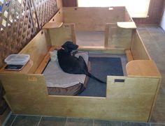 Diy dog kennel plans whelping box new Ideas Dog Whelping Box, Whelping Puppies, Dog Kennel Designs, Diy Dog Kennel, Dog Kennels, Kennel Ideas, Puppy Box, Puppy Playpen, Puppy Nursery