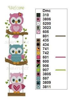 Punto Croce Coccinelle Punto Croce Co - Diy Crafts Cross Stitch Owl, Cat Cross Stitches, Cross Stitch Letters, Cross Stitch Bookmarks, Cross Stitch Animals, Cross Stitch Charts, Cross Stitch Designs, Cross Stitching, Cross Stitch Embroidery